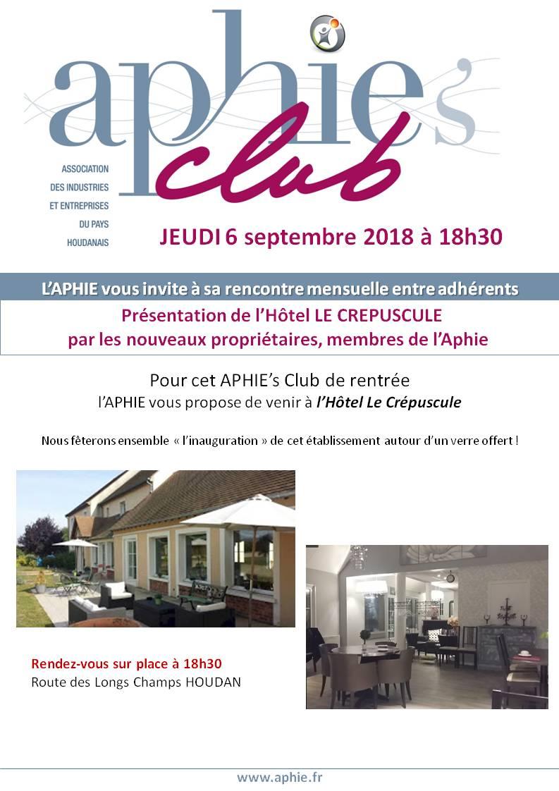 6 septembre 2018 : APHIE's Club