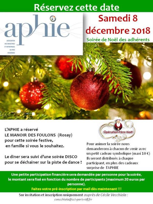 Samedi 8 décembre 2018 : Soirée de Noël des adhérents