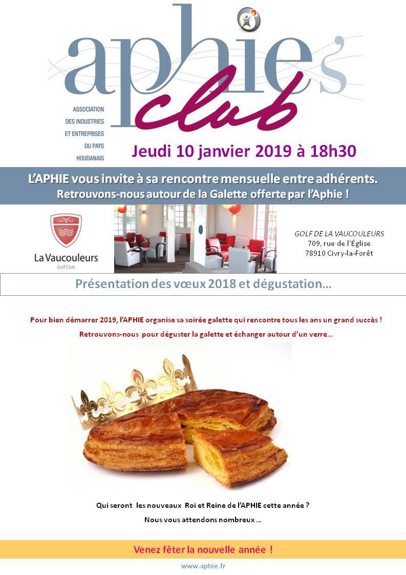 Jeudi 10 janvier 2019 : Aphie's Club & Galette