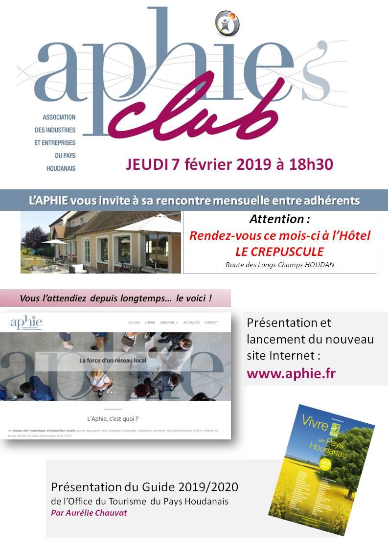 Jeudi 7 février 2019 : Aphie's Club