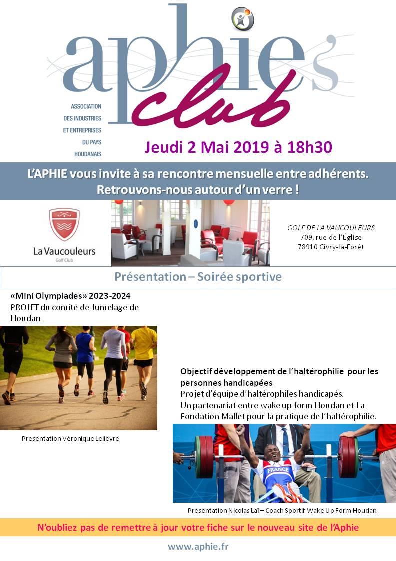 Jeudi 2 mai 2019 : Aphie's Club [MAJ]