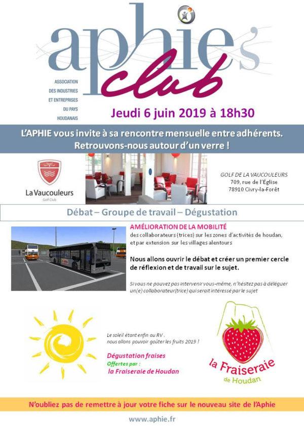 Jeudi 6 juin 2019 : Aphie's Club