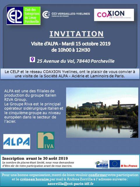 Mardi 15 octobre 2019 : Venez découvrir vos entreprises – Alpa