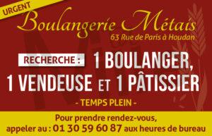 Offre d'emploi : Boulangerie Métais