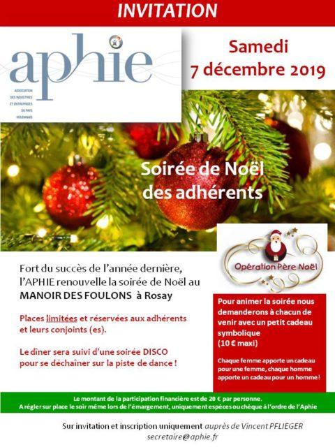 Samedi 7 décembre 2019 : Soirée de Noël des adhérents