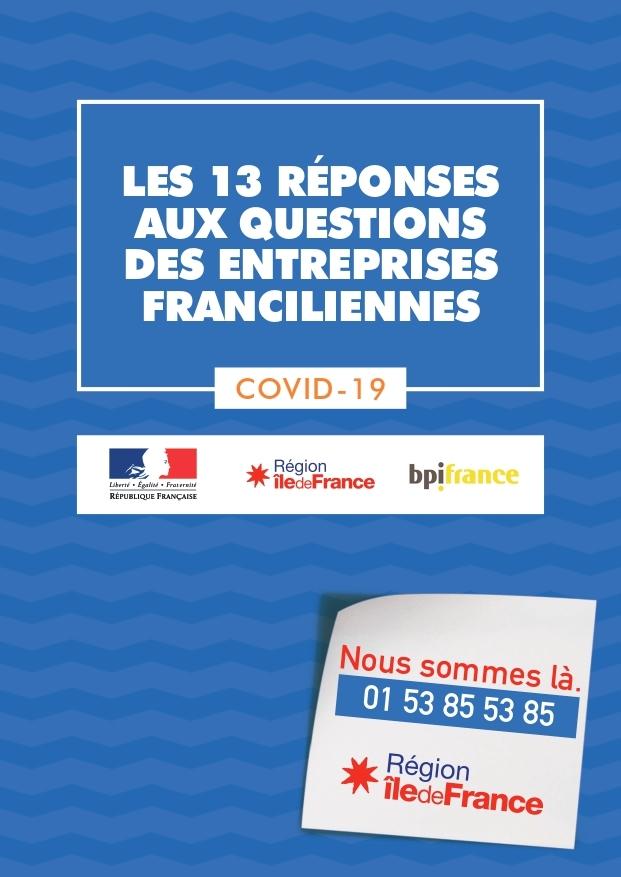 [Covid-19] Les 13 réponses aux questions des entreprises francilliennes