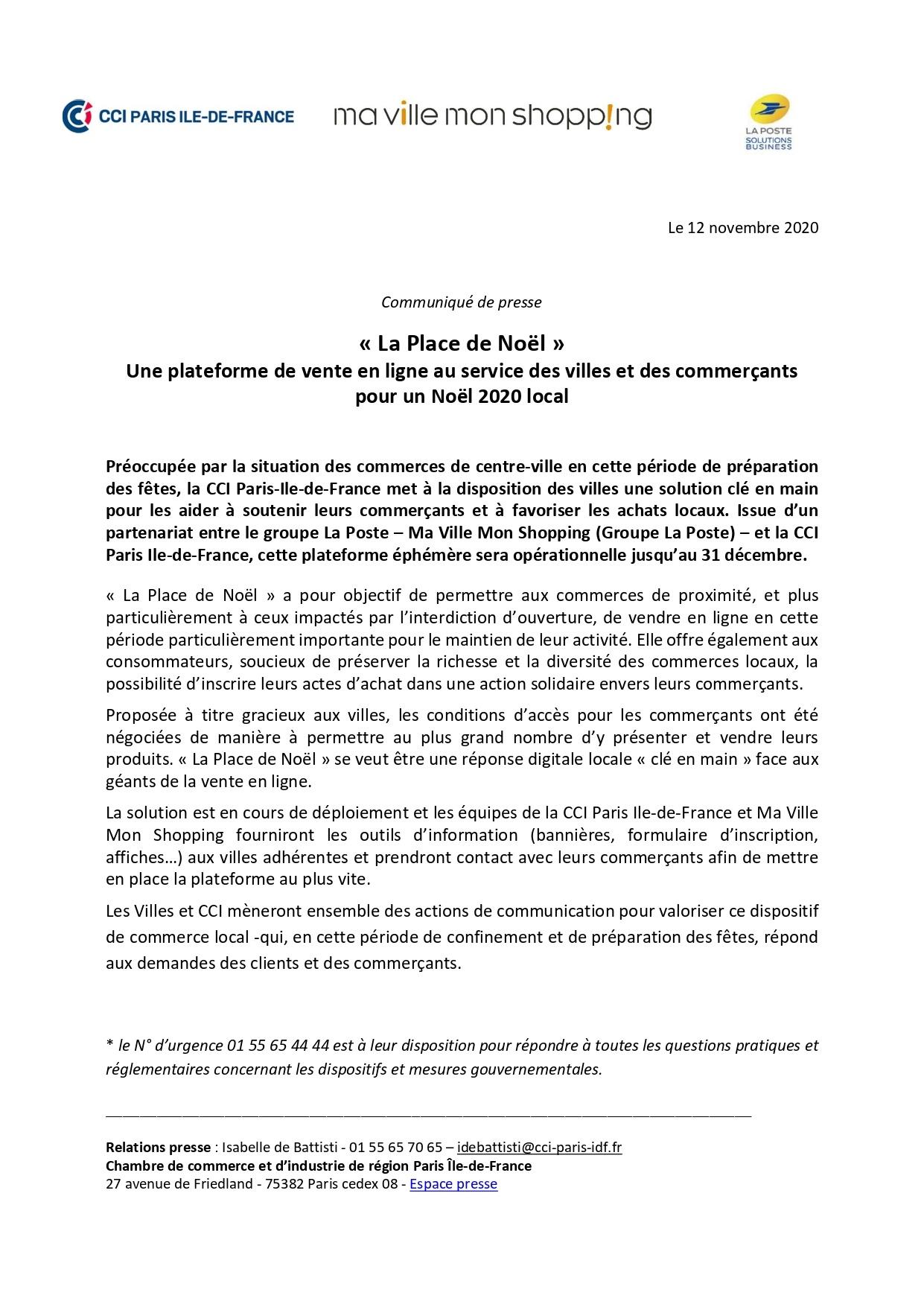 Message de la CCI Versailles aux entreprises des Yvelines