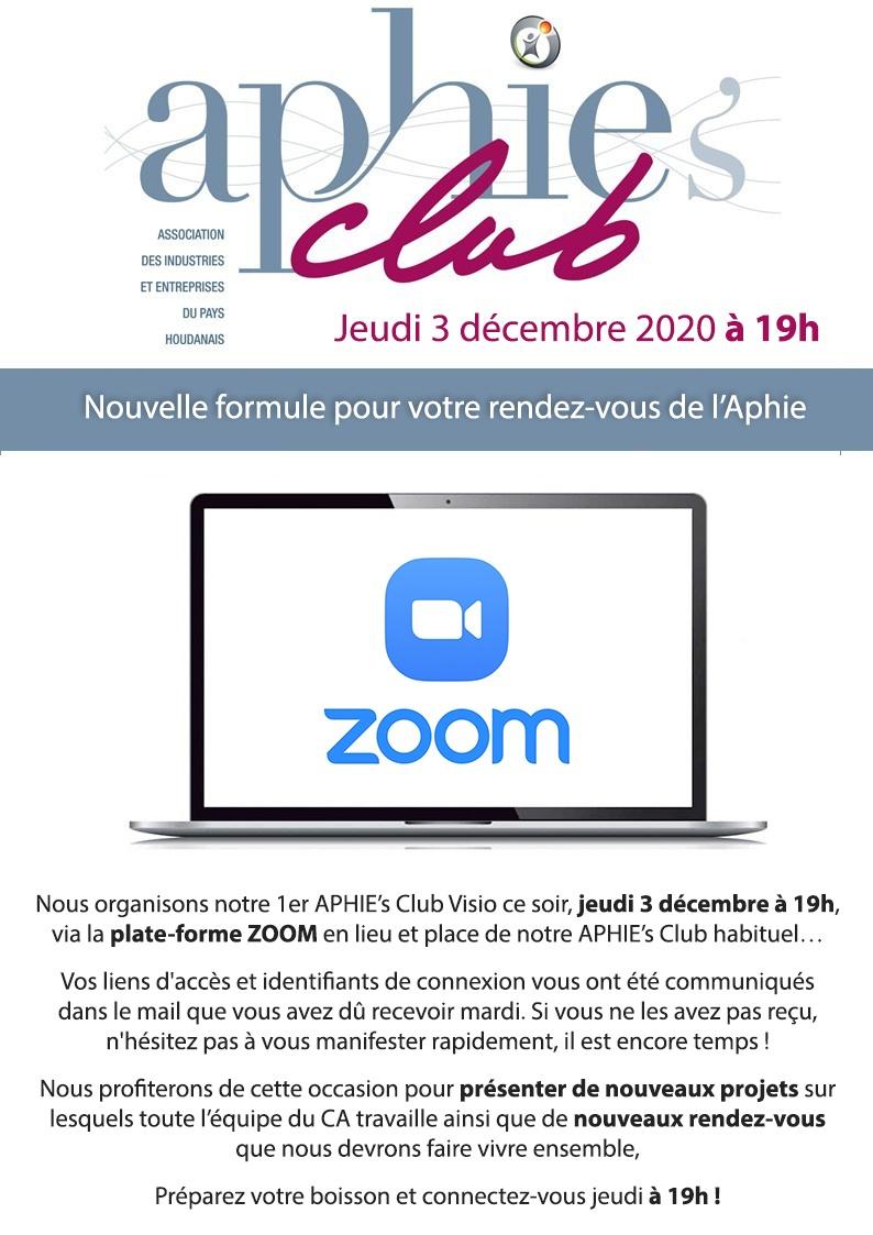 Jeudi 3 décembre : Aphie's Club Visio [MAJ]