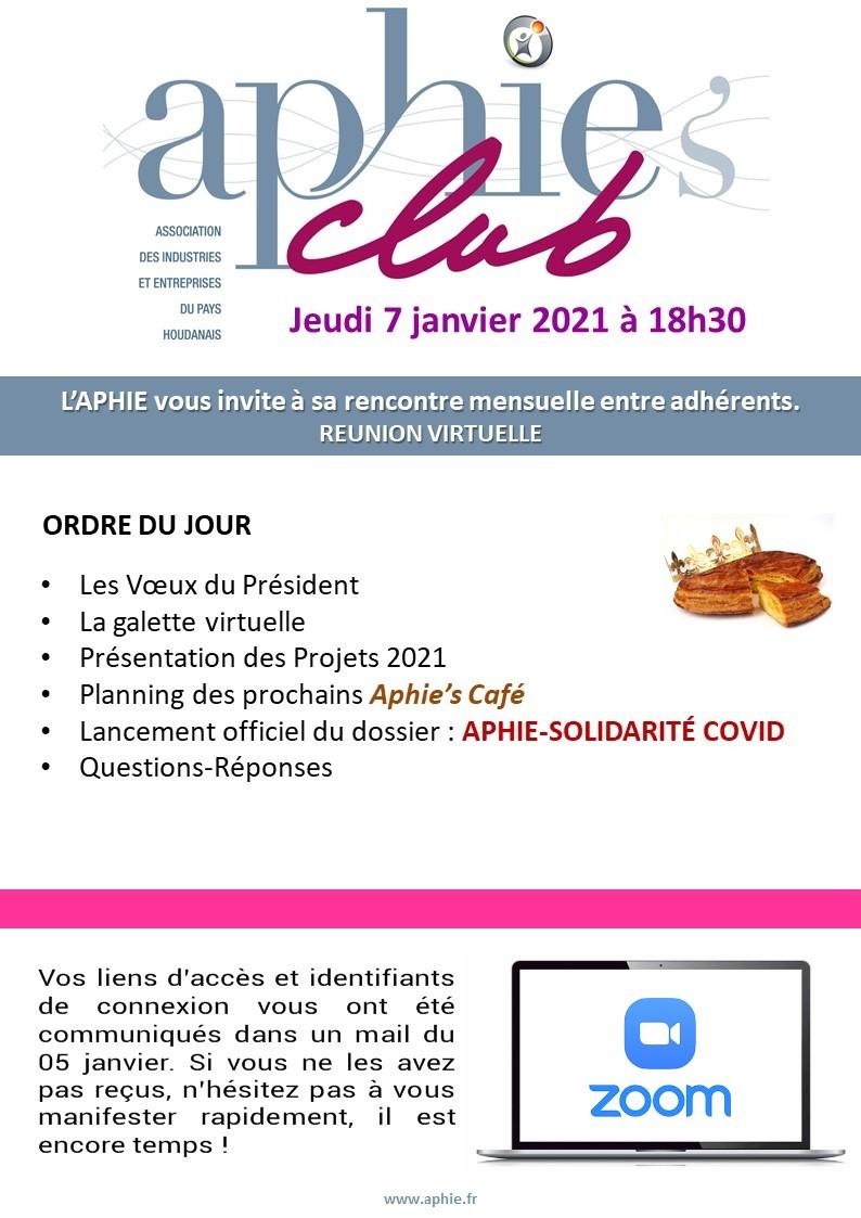 Jeudi 7 janvier : Aphie's Club Visio