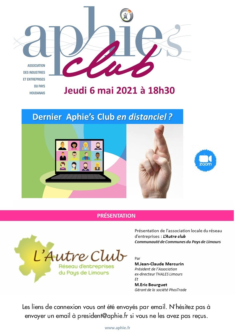 Jeudi 6 mai : Aphie's Club Visio